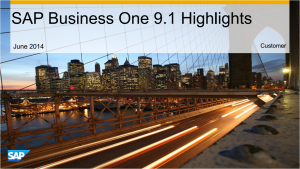 SAP Business One 910 Highlights